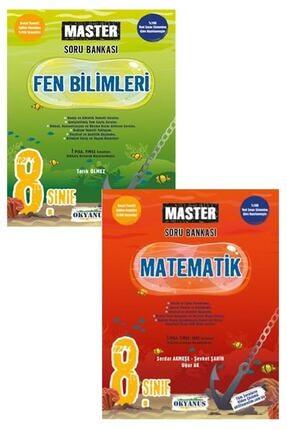Okyanus Yayınları 8.sınıf Master Matematik  Fen Bilimleri Soru Bankası Seti 0