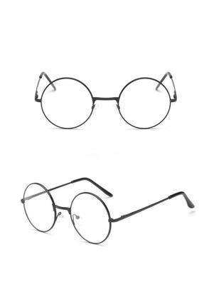 Retro Yuvarlak Gözlük Şeffaf Gözlük 0