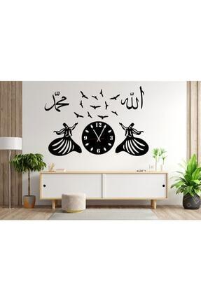 Otantik Dekoratif Semazen Mdf Saat 100x70 0