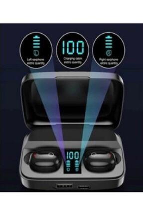 Earbuds Bluetooth Spor Kulaklık, Led Göstergeli, 1800 Mah Powerbank, Su Geçirmez Tws A10s - Siyah 1