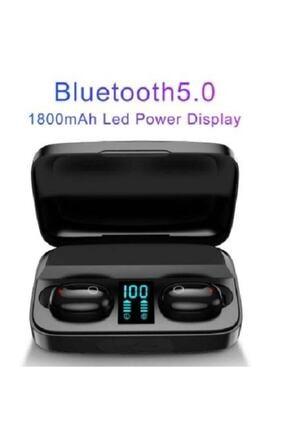 Earbuds Bluetooth Spor Kulaklık, Led Göstergeli, 1800 Mah Powerbank, Su Geçirmez Tws A10s - Siyah 2