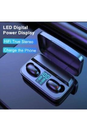 Earbuds Bluetooth Spor Kulaklık, Led Göstergeli, 1800 Mah Powerbank, Su Geçirmez Tws A10s - Siyah 4