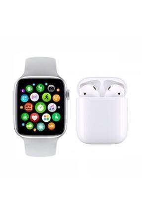 SmartWatch Akıllı Saat Smart Watch T500 + Airpods 12 Kablosuz Kulaklık 2'li 0