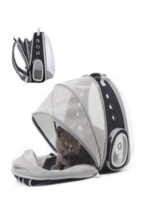 Tina Fileli Açılabilir Şeffaf Astronot Kedi Köpek Evcil Hayvan Taşıma Çantası Siyah 1
