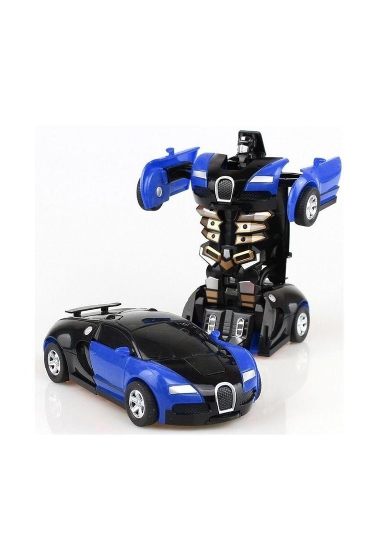 NO NAME Transformers Robot Çek bırak 1:32 Kendinden Robota Dönüşebilen Araba Bugatti