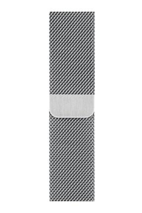 MAXCOM Apple Watch Hasır 38mm/40mm Milano Kordon Çelik Kayış Sılver/gumus 0