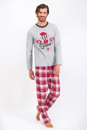 تصویر از 1070 Erkek Gri Kombin Pijama Takım