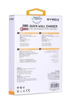 Syrox Huwai Hızlı Sarj Cihazı Seti Type-c Hızlı Ev Şarj Aleti 3.0a (Q32 BEYAZ) 2