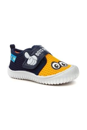 Gezer 3035 Erkek Çocuk Lacivert Yazlık Anaokulu/Kreş Ayakkabı Panduf 0
