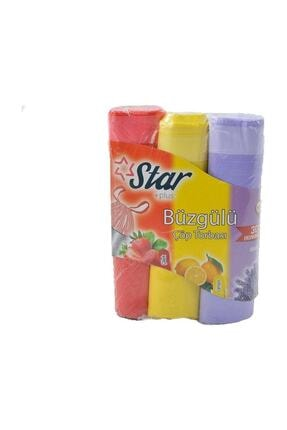 Star Plus Büzgülü Çöp Torbası 55x60 Cm 3' Lü Eko Paket Lavanta-çilek-limon 1