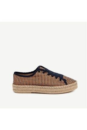 Kadın Turuncu Hasır Taban Detaylı Ayakkabı 1YKAY4003X