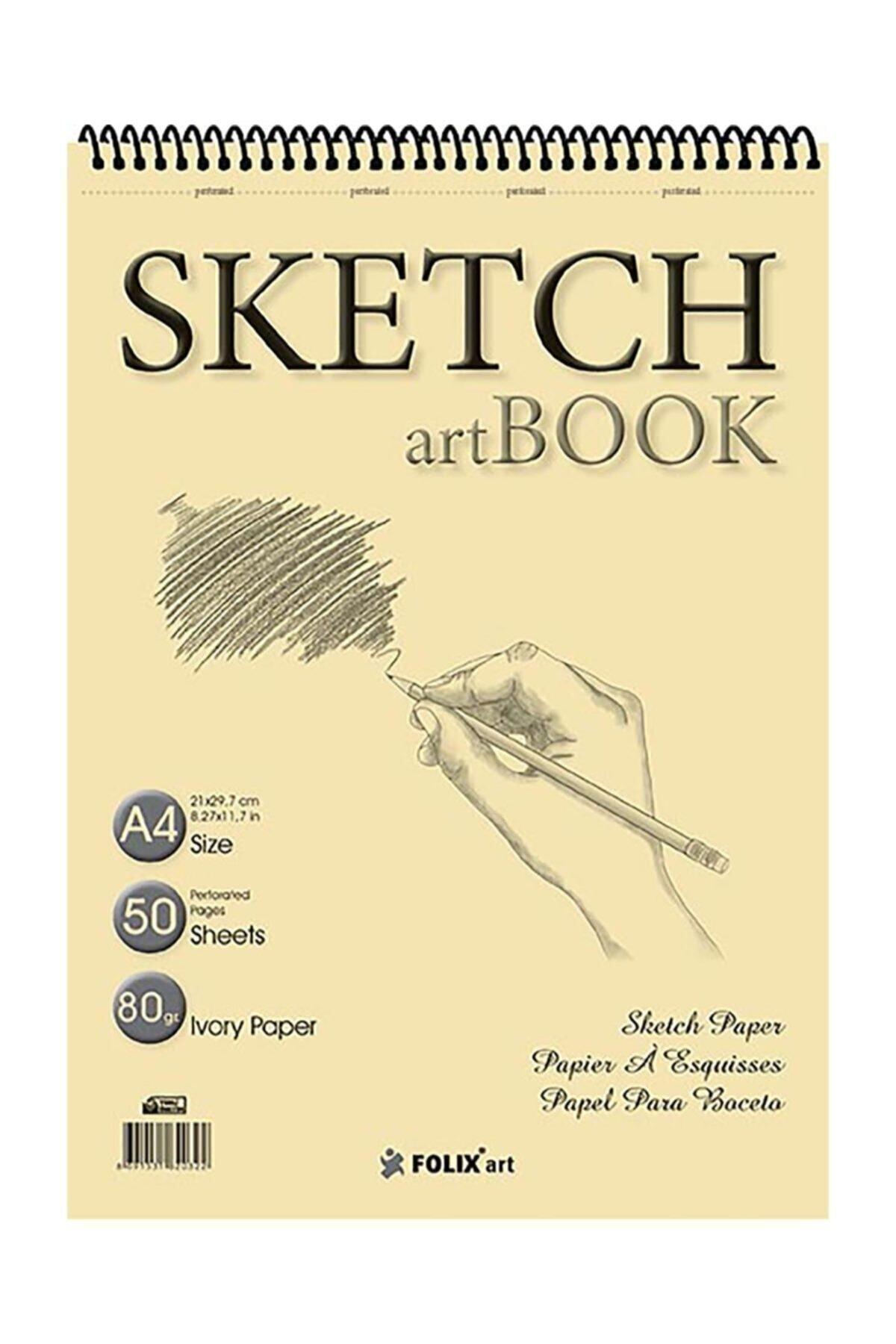 Eskiz Defteri 90 Gr A4 50 Yaprak Spiralli Ivory Sketchbook Eskiz Defteri Sketch Book
