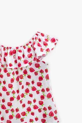 Koton Kız Çocuk Kırmızı Desenli T-Shirt 1YKG17519OK 2