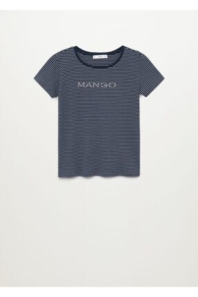 Mango Organik Pamuklu Logolu Tişört 2