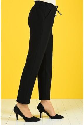 Essah Moda Kadın Siyah Lastikli Havuç Pantolon 1