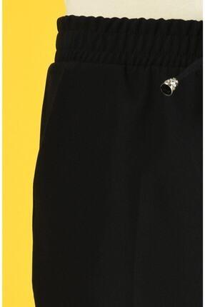 Essah Moda Kadın Siyah Lastikli Havuç Pantolon 2
