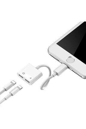 Ally Iphone Ipad Lightning Kulaklık Ve Şarj Çevirici Çoğaltıcı Kablo 0