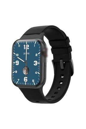 X-GEAR Smartwatch Hw16 Premium Siyah Türkçe Akıllı Saat Hd Ips Tam Ekran Akıcı Arayüz Suya Dayanıklı 3