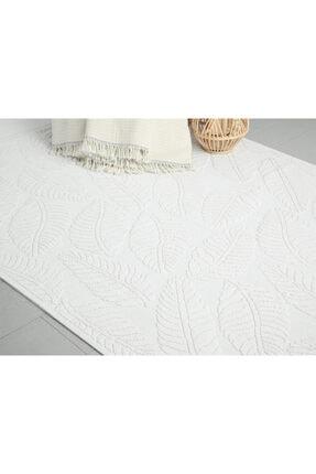 English Home Leafy Pamuklu Kilim 60x100 Cm Beyaz 1