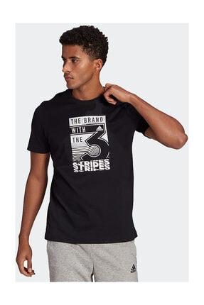 adidas Erkek Siyah M Extmo Slgn T T-Shirt 3