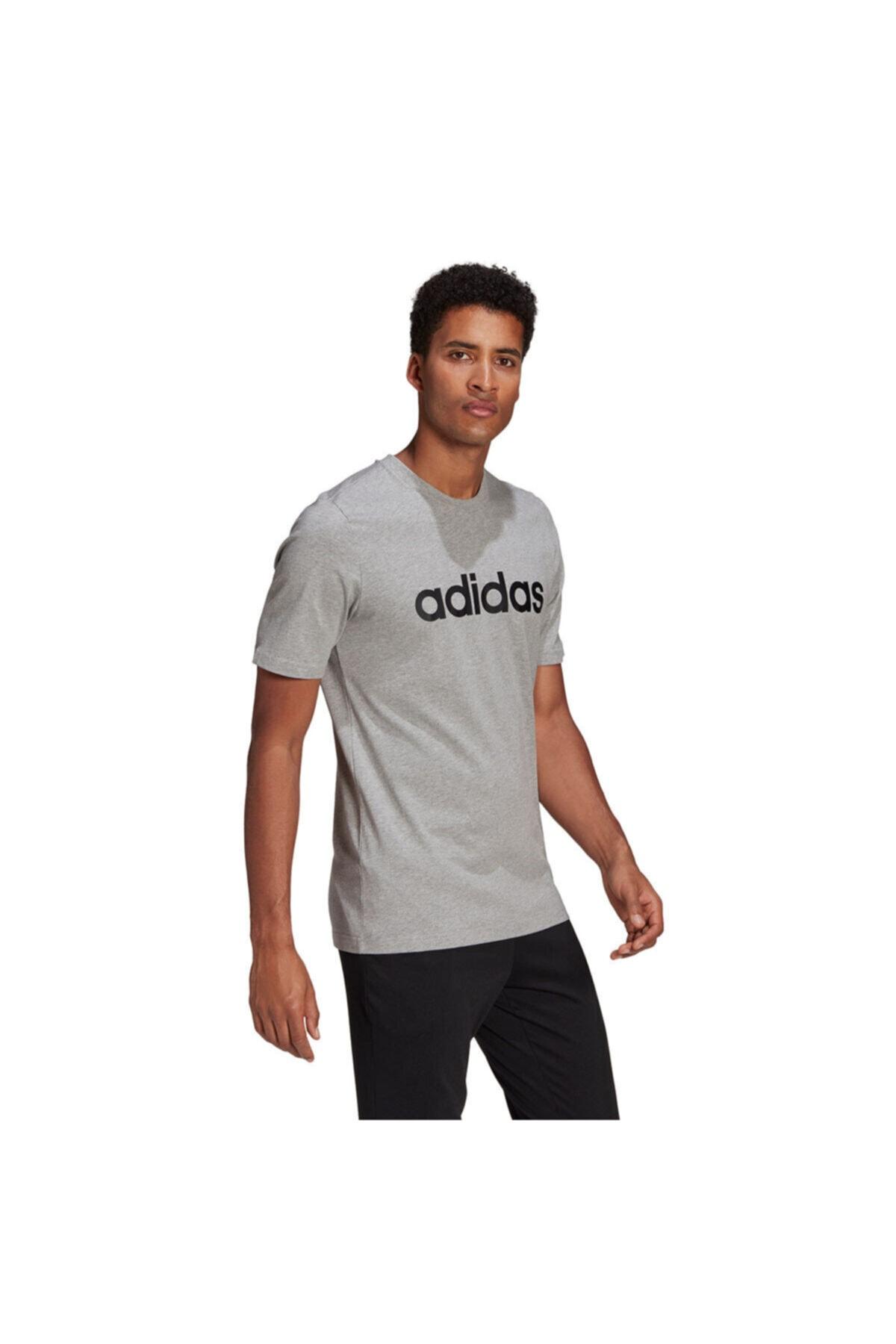 M LIN SJ T Gri Erkek T-Shirt 101085785