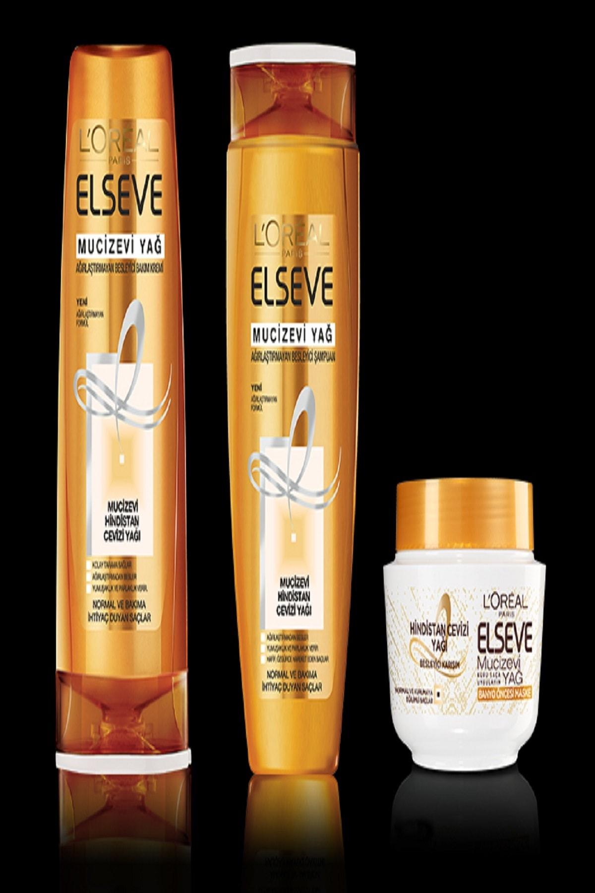 Elseve Mucizevi Hindistan Cevizi Yağı Ağırlaştırmayan Besleyici Şampuan 360 ml