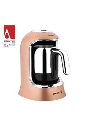 KORKMAZ Kahvekolik Rosegold Krom Otomatik Kahve Makinesi A860-06 1