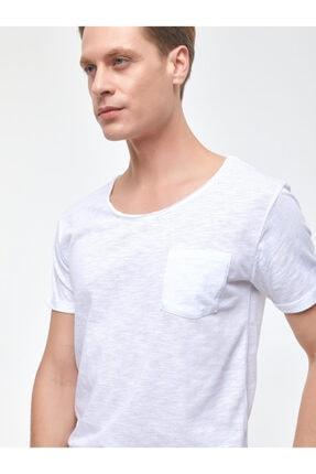Ltb Erkek  Beyaz  Kısa Kol Geniş Yaka T-Shirt 012208450660890000 1