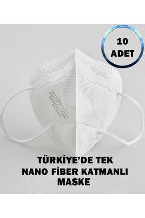 SECUREX MASK N95 Maske 10 Adet Türkiye'de Tek Nano Fiber Katmanlı Maske 0