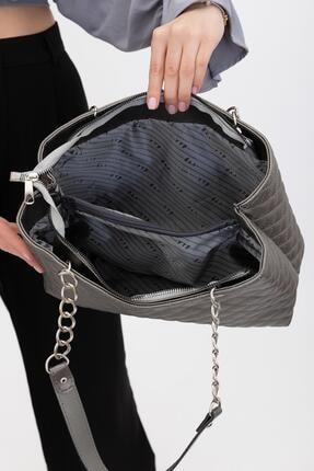 Shule Bags Çift Bölmeli Omuz Çantası Alof Gri 4
