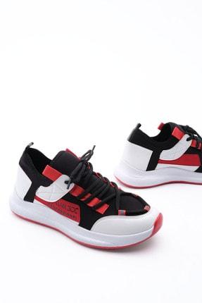 Marjin Kadın Streç Sneaker Spor Ayakkabı Felyabeyaz 0