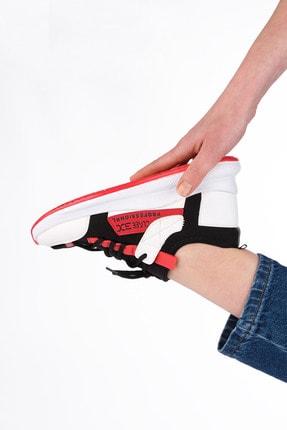Marjin Kadın Streç Sneaker Spor Ayakkabı Felyabeyaz 1