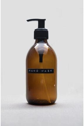 TriChi Design 300ml Amber Cam Sıvı Sabunluk Retro Tasarım 3d Hand Wash Etiket 0