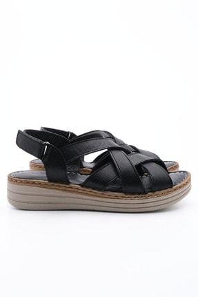 Marjin Kadın Hakiki Deri Sandalet Foletasiyah 2