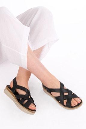 Marjin Kadın Hakiki Deri Sandalet Foletasiyah 3