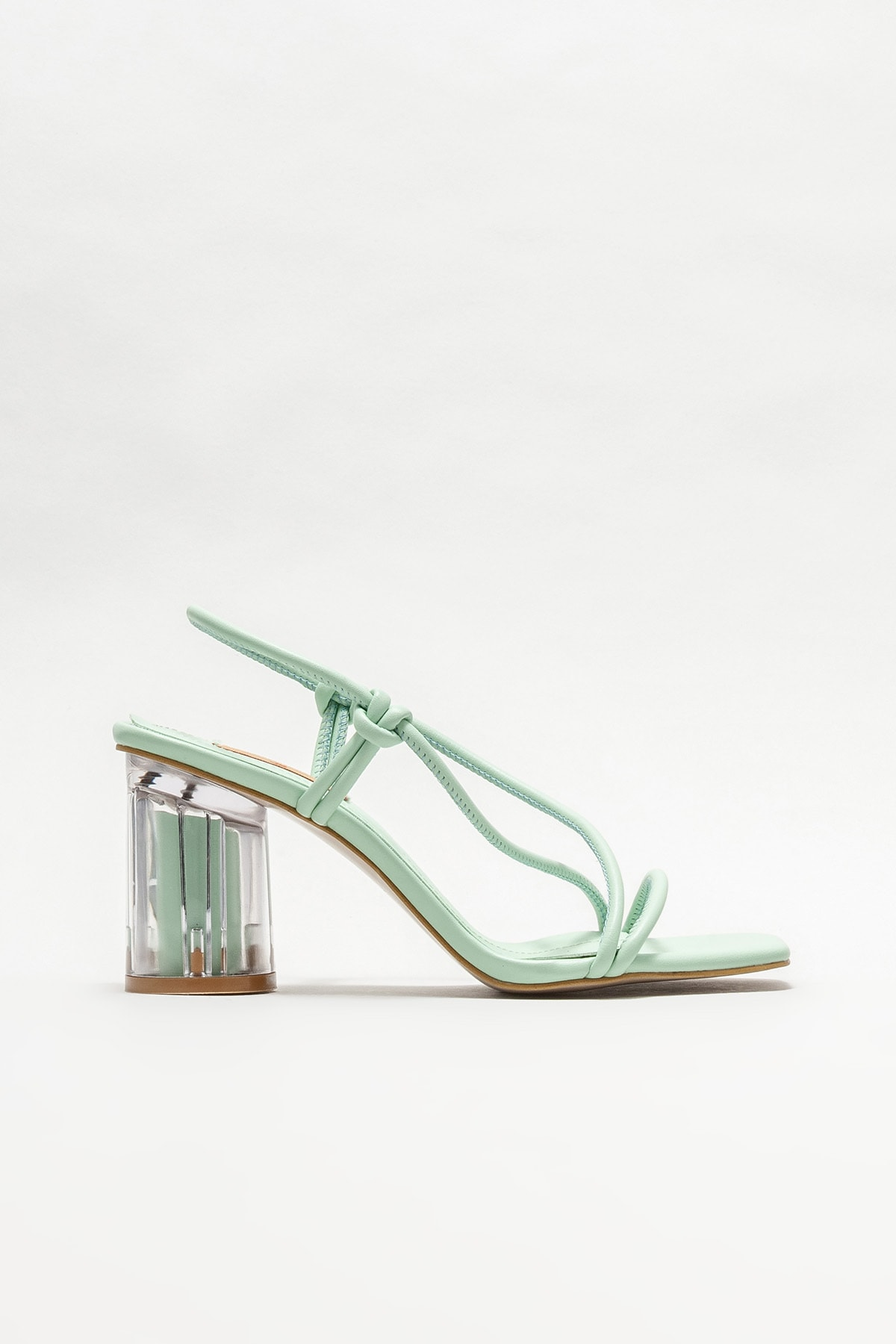 Kadın Mint Yeşili Topuklu Sandalet