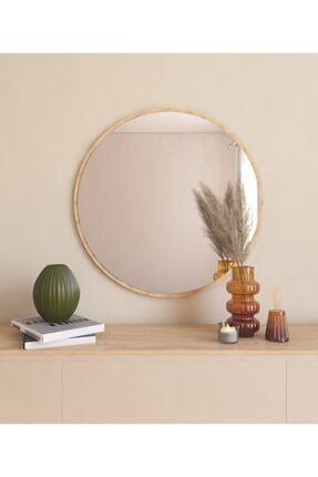 MONEayna Dekoratif Yuvarlak Ayna Natural Antre Hol Koridor Duvar Salon Mutfak Banyo Wc Ofis Aynası Mg301 2