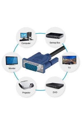 WOZLO 1.5m Metre Vga Kablo Lcd Monitör Ekran Projeksiyon Görüntü Kablosu 2