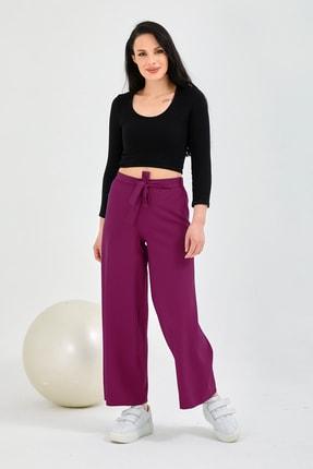 Gentekstil Kadın Fuşya Bel Lastikli Genplus Rahat Kesim Pantolon 0