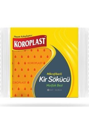 Koroplast Mikrofiber Kir Sökücü Mutfak Bezi 4'lü (turuncu/yeşil) 0