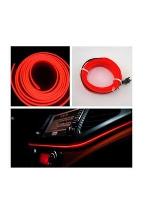 Carub Araç Içi Aydınlatma Ip Neon Led Kırmızı 0