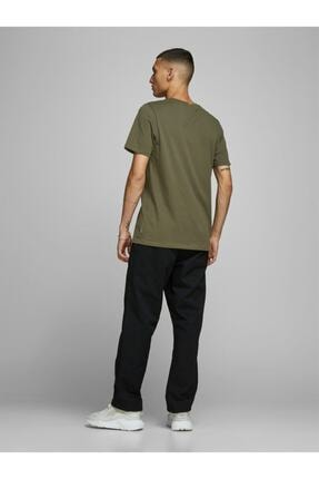 Jack & Jones Jjeorganıc Basıc Tee Ss O Yeşil Erkek Kısa Kol T-shirt 1