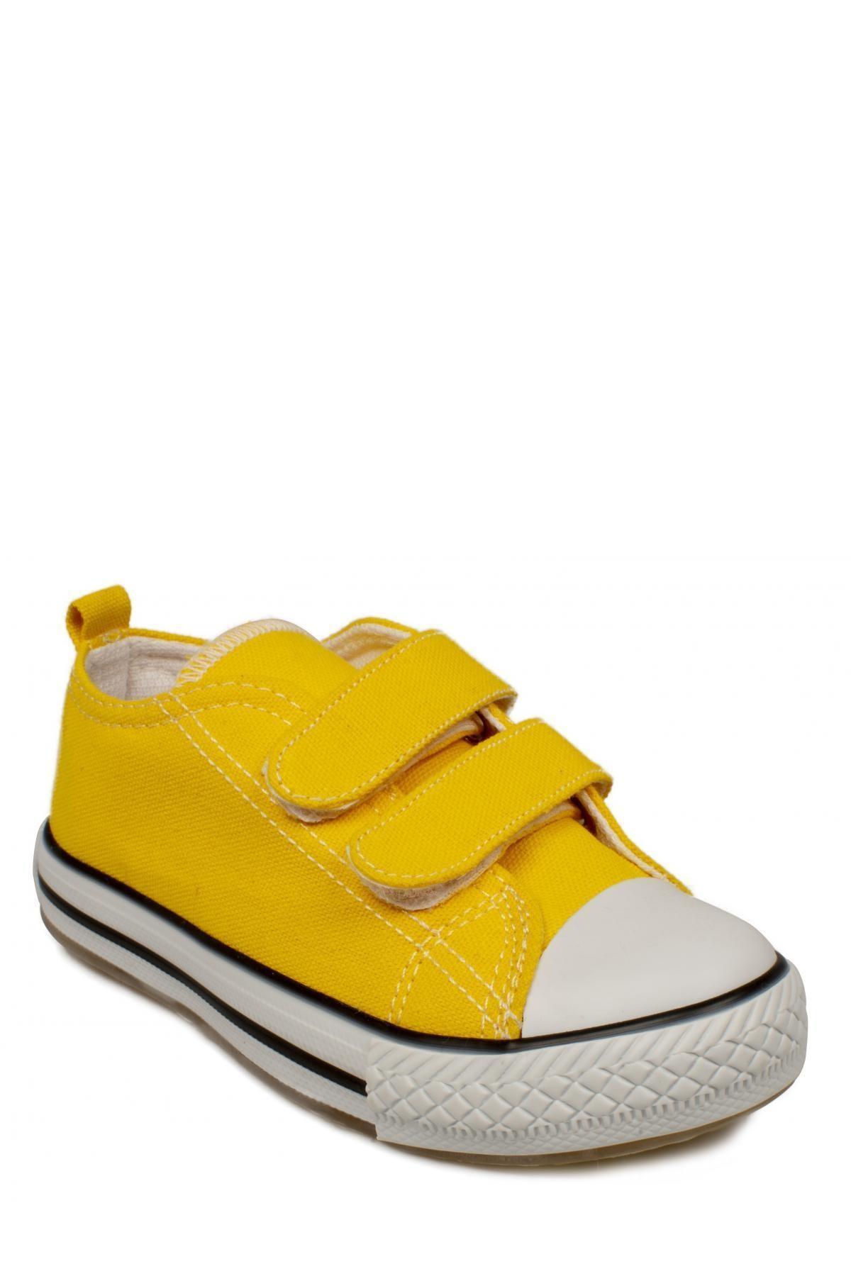 925.p20y150 Patik Işıklı Keten Sarı Çocuk Spor Ayakkabı