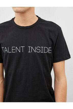 Koton Erkek T-shirt Siyah 1yam11931ck 4