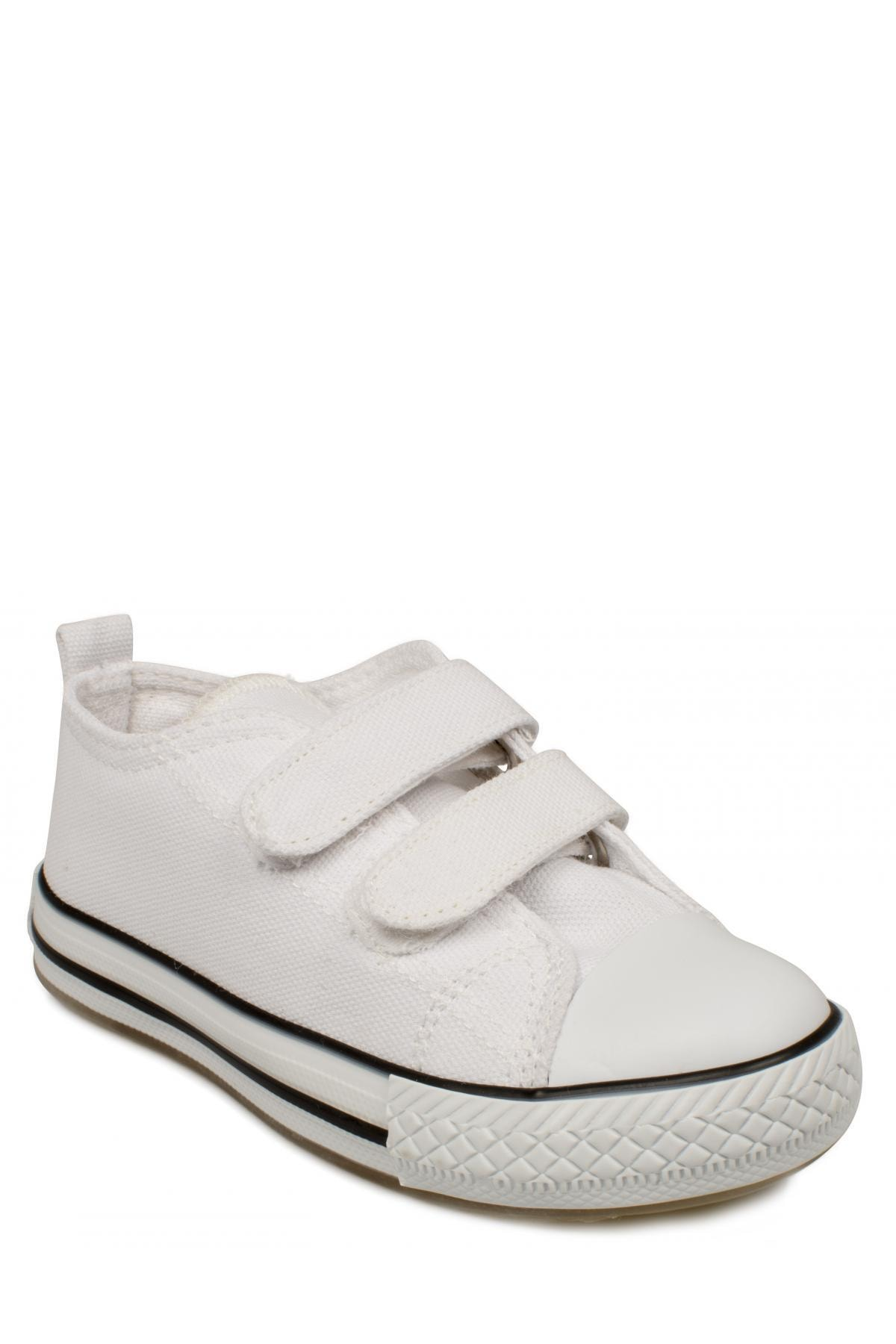 925.p20y150 Patik Işıklı Keten Beyaz Çocuk Spor Ayakkabı