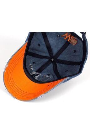 DMONA Unisex Lacivert Taşlı Eskitme W Şapka 3