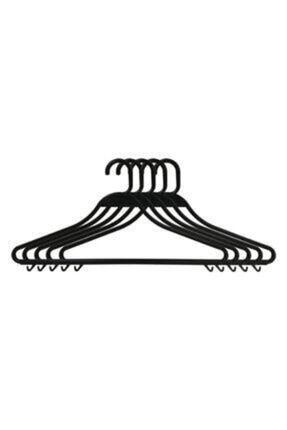 Askıcı Kıyafet Askısı Plastik Kırılmaz Siyah 50 Adet 0