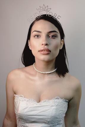 ROSALINDA COLLECTION Kadın Beyaz İnci Choker Kolye, İnci Tasma Kolye 2