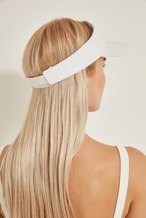 tuplepie Unisex Uv Koruyucu Vizör Kasket Siperlik Tenis Şapka Beyaz 1