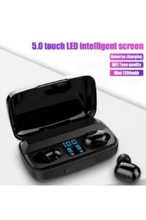 Earbuds Bluetooth Spor Kulaklık, Led Göstergeli, 1800 Mah Powerbank, Su Geçirmez Tws A10s - Siyah 3